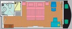 Yangtze Gold 5. Делюкс каюта с балконом (двухместная) категории LX2KG