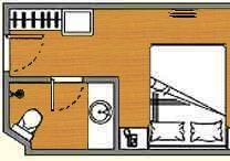 Yangtze Gold 5. Стандарт каюта без балкона (одноместная) категории A1KG
