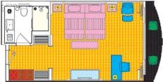 Yangtze Gold 5. Улучшенная каюта с балконом (двухместная) категории XL2KG