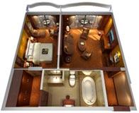 Yangtze Gold 5. Улучшенная двухкомнатный каюта с балконом  категории STXL2KG