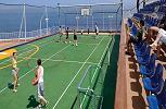 Norwegian Gem. Basketball and Tennis Court